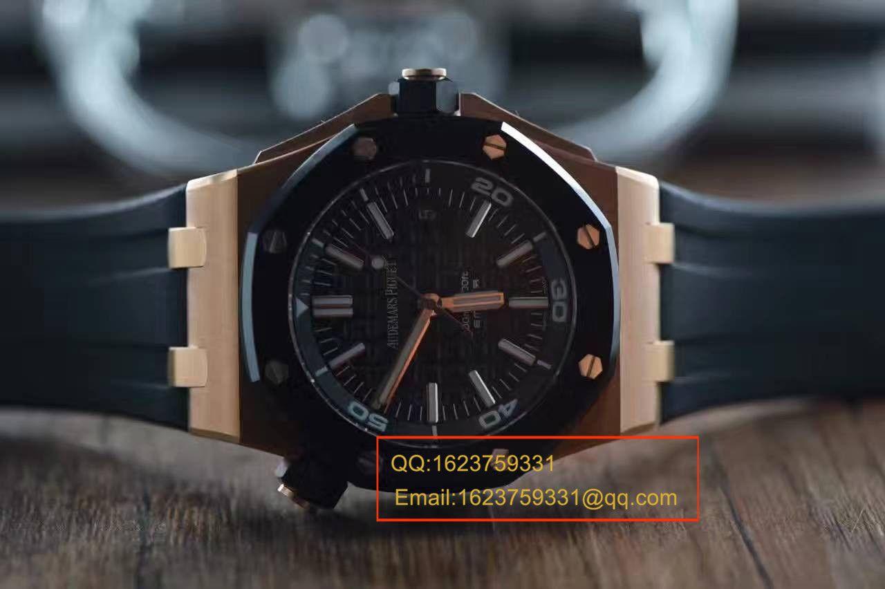 【视频测评JF一比一高仿腕表】爱彼皇家橡树离岸型系列 15709TR.OO.A005CR.01腕表 / APBF077