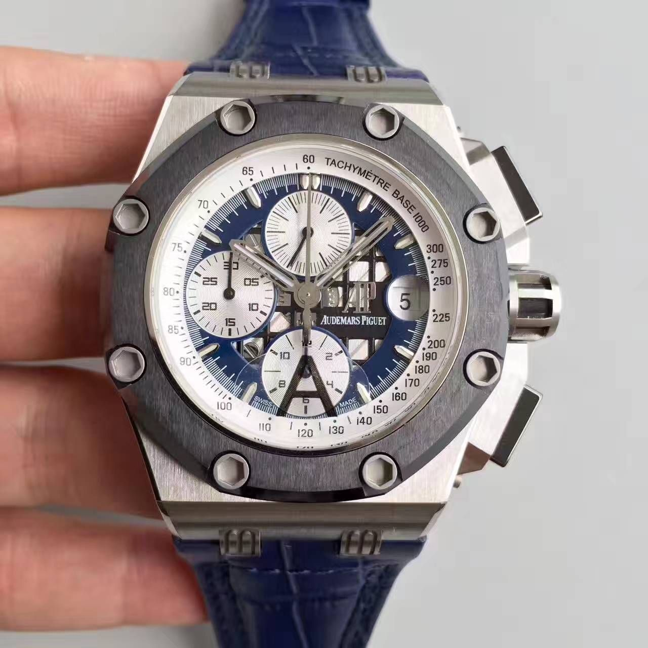 【JF厂超A高仿手表】爱彼皇家橡树离岸型BR2系列26078PO.OO.D018CR.01腕表 / AP070