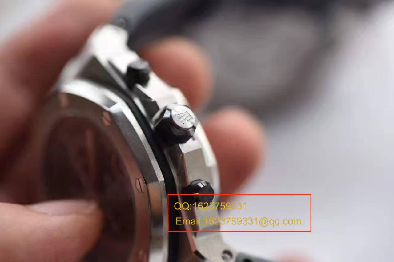 【视频评测JF厂1:1精仿手表】爱彼AP 皇家橡树离岸型系列26470ST.OO.A104CR.01腕表 / APCD082