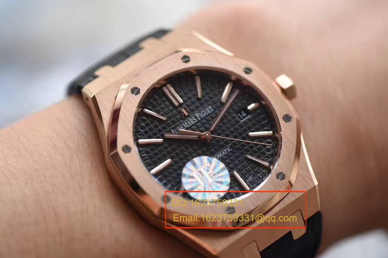 【JF厂1:1复刻手表】爱彼皇家橡树系列15400OR.OO.D002CR.01腕表《真皮表带款》 / AP015