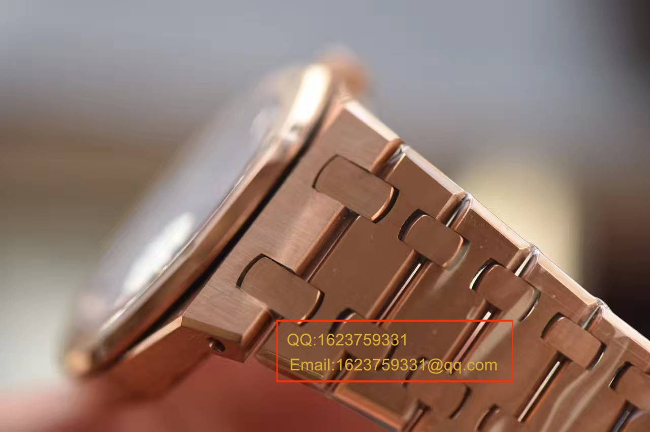 【JF厂1:1超A高仿手表】爱彼皇家橡树系列 67650OR.OO.1261OR.01石英女士腕表