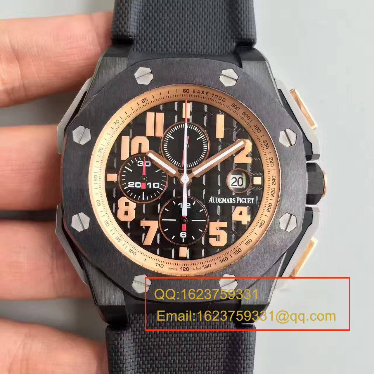 【JF厂1:1超A复刻高仿手表】爱彼皇家橡树离岸型系列施瓦辛格26378IO.OO.A001KE.01腕表
