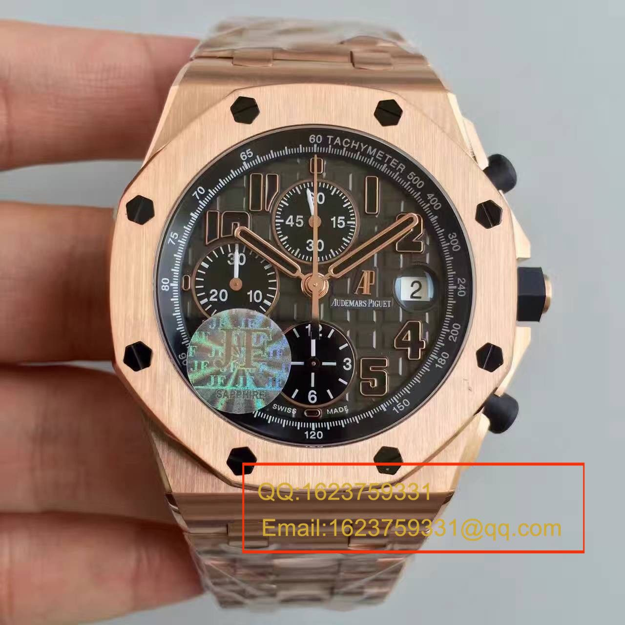 【JF厂超A高仿手表】爱彼皇家橡树离岸型系列26192OR.D0801CR.01腕表
