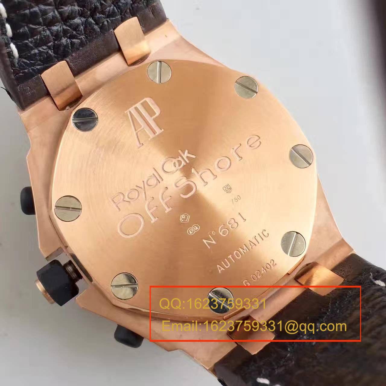 【JF厂1:1精仿手表】爱彼皇家橡树离岸型Royal Oak Offshore系列26170OR.OO.1000OR.01机械腕表