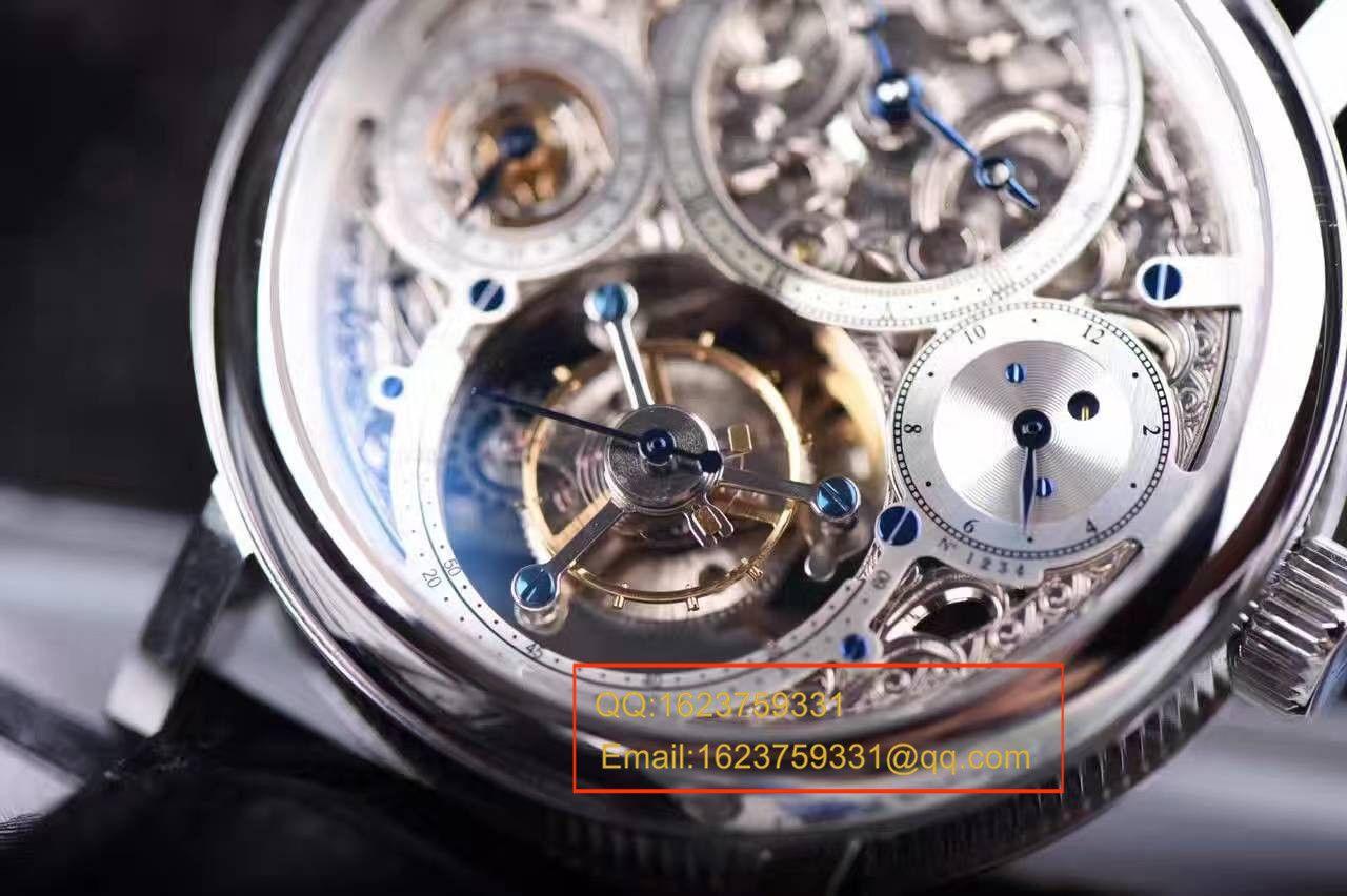 【TF厂一比一复刻手表】宝玑经典复杂系列3795PT/1E/9WU全镂空陀飞轮腕表 / BZ005