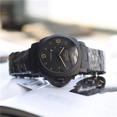 【视频评测VS一比一超A高仿手表】沛纳海LUMINOR 1950系列PAM00438全陶瓷腕表价格报价