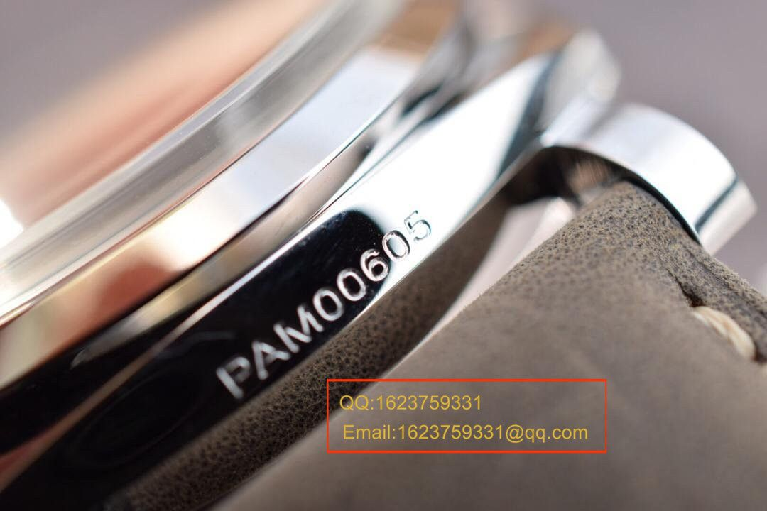 【实拍图鉴赏】SF厂超A精仿手表之沛纳海灰面PAM00605男表 / PAMAH00605