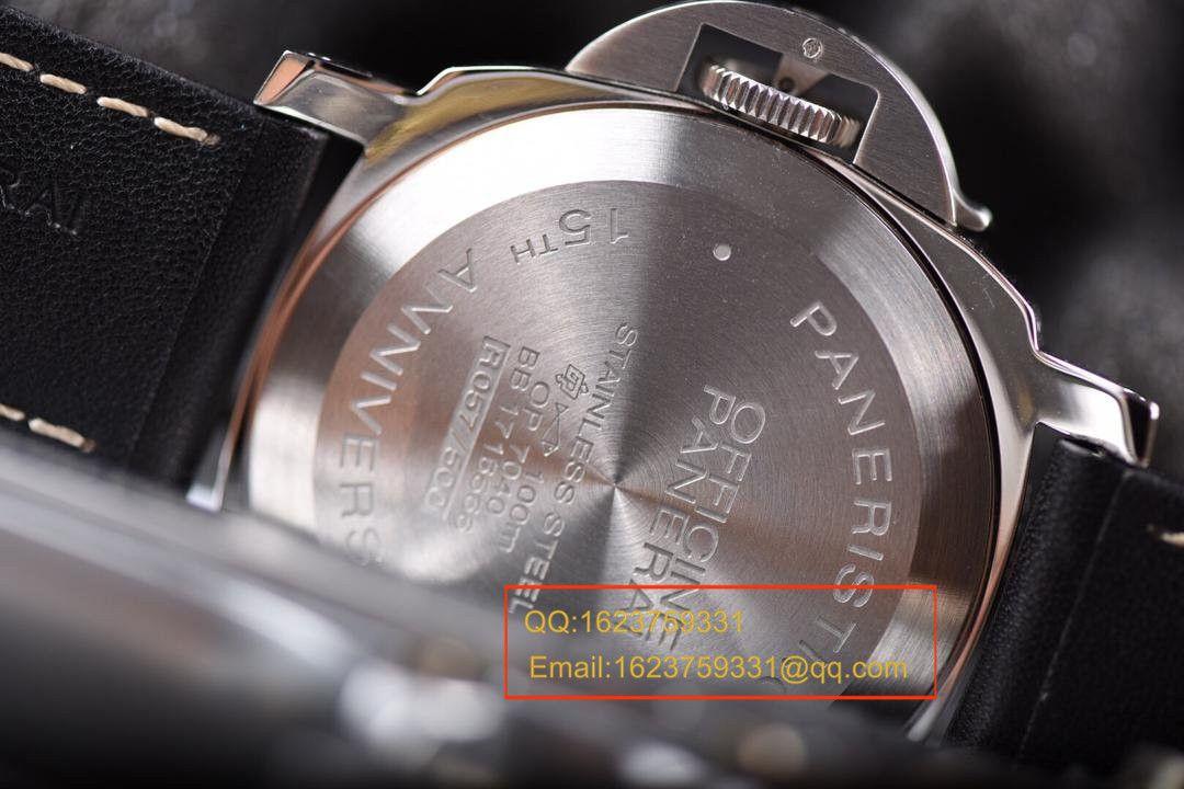 【视频评测KW1:1精仿手表】沛纳海Luminor Base Logo Acciaio15周年限量版PAM00634 / PAMAE00634