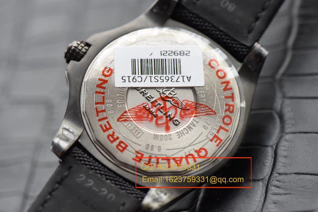【独家视频评测GF一比一超A高仿手表】百年灵复仇者黑鸟侦察机44毫米V1731110/BD74/109W/M20BASA.1百年灵黑鸟腕表 / BLBB066