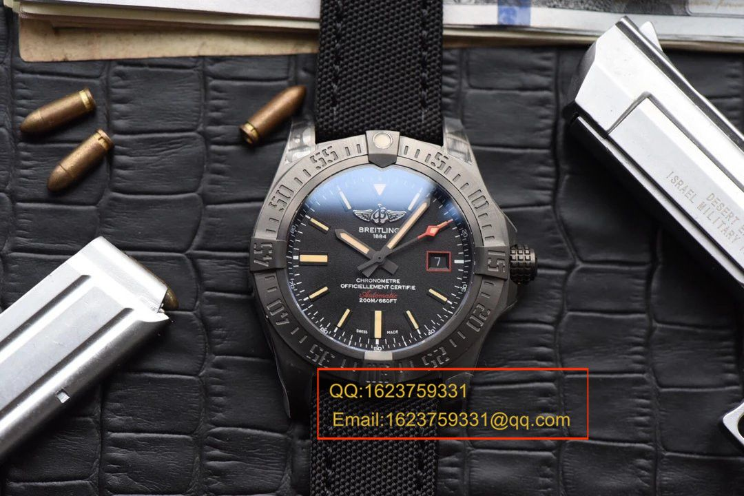 【独家视频评测GF一比一超A高仿手表】百年灵复仇者黑鸟侦察机44毫米V1731110/BD74/109W/M20BASA.1百年灵黑鸟腕表