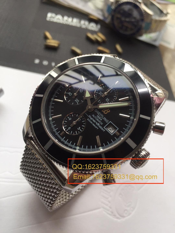 【视频解析】百年灵超级海洋文化系列精钢表壳-黑色表盘-Ocean Classic表链腕表 / BLAH053