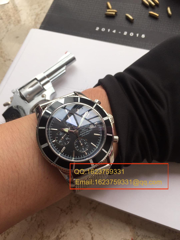 【视频解析】百年灵超级海洋文化系列精钢表壳-黑色表盘-Ocean Classic表链腕表