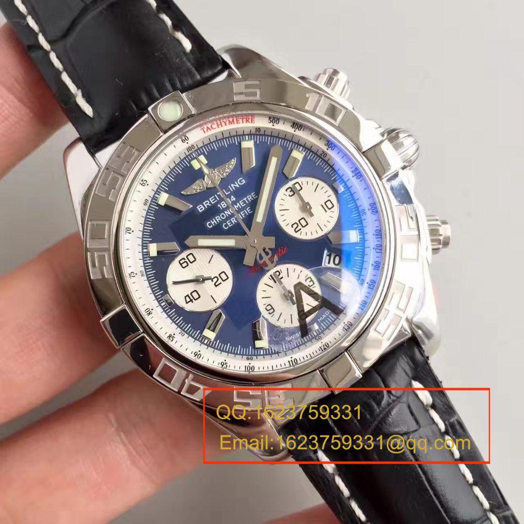 【JF厂超A高仿手表】百年灵机械计时系列AB011011/C788(Pilot飞行员牛皮表链)腕表