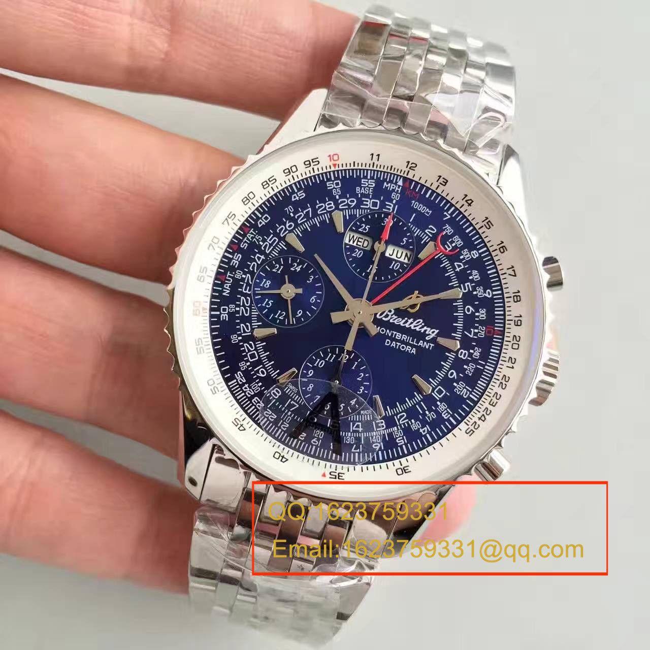 【JF1:1超A精仿手表】百年灵蒙柏朗计时系列A2133012-B571蓝盘腕表