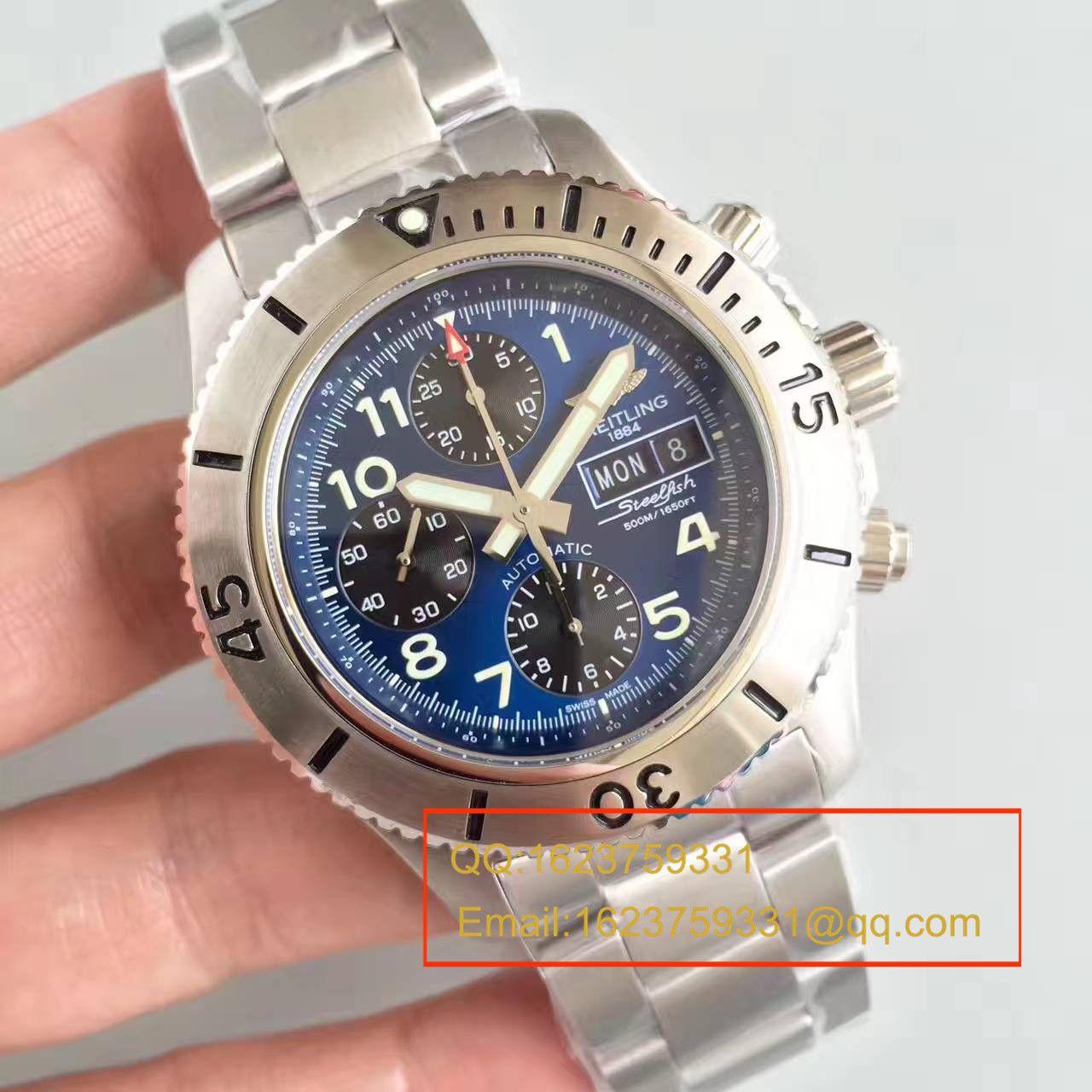 【GF一比一超A精仿手表】百年灵超级海洋系列A13341C3/C893/200S/A20DSA.2钢鱼计时腕表 / BL071