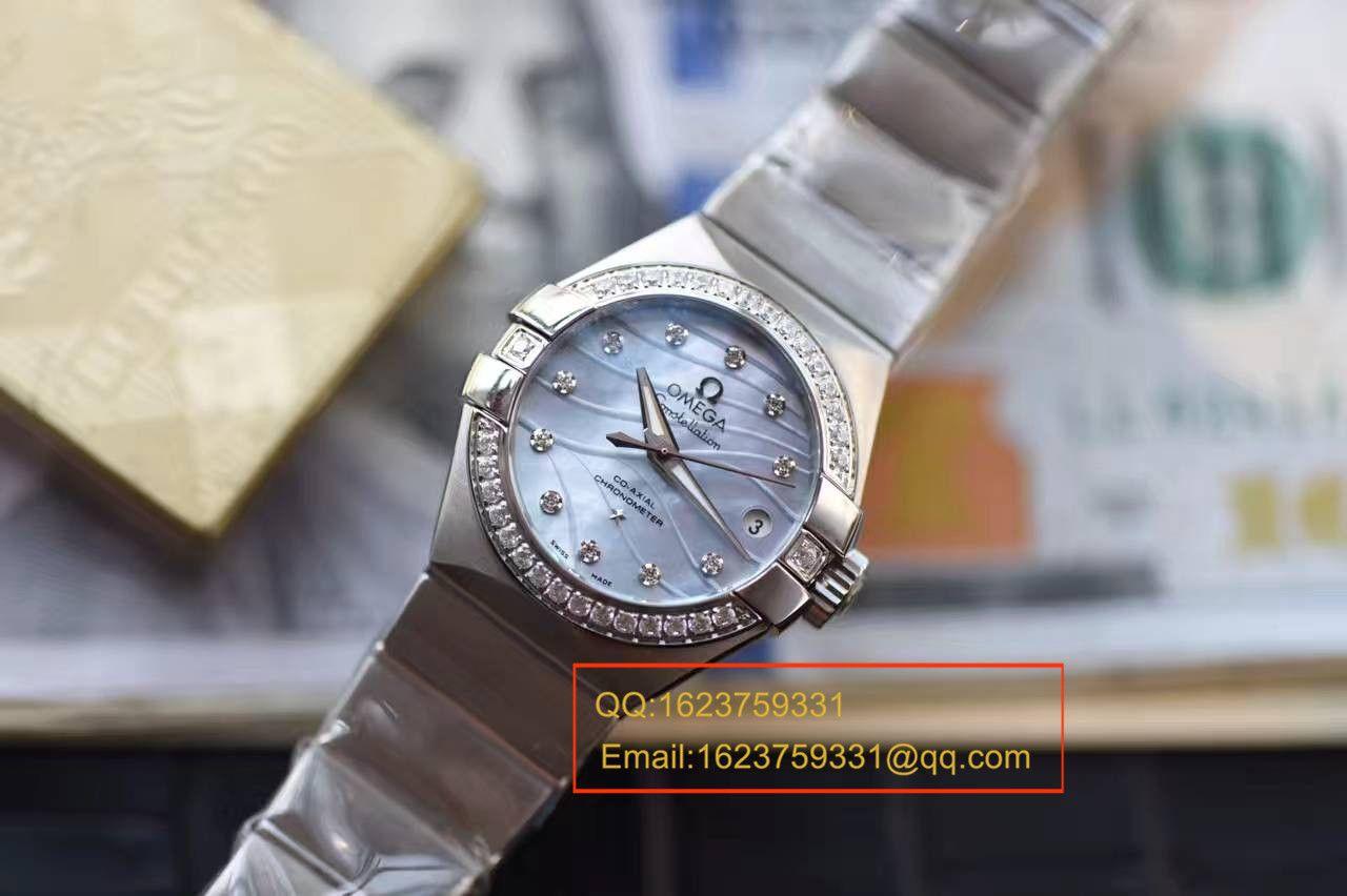 【HBBV6厂一比一超A高仿手表】欧米茄星座123.15.27.20.57.001女士腕表 / M304