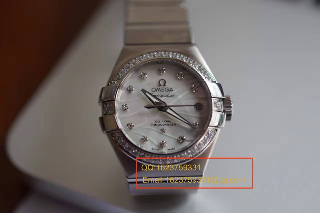 【V6厂一比一超A精仿手表】欧米茄星座轻羽系列123.15.27.20.55.001 女士机械手表 / M164