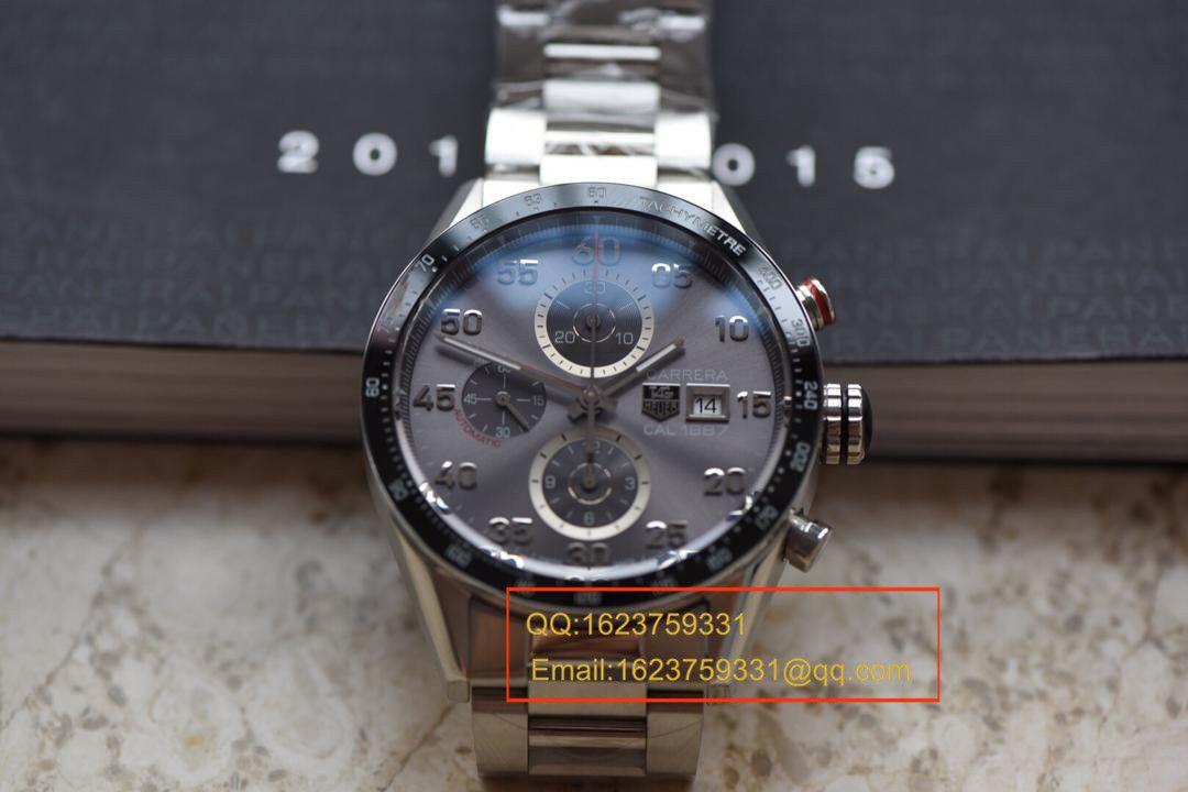 【视频评测HBBV6厂1:1顶级复刻手表】泰格豪雅卡莱拉系列CAR2A11.BA0799腕表 / TGBD0171