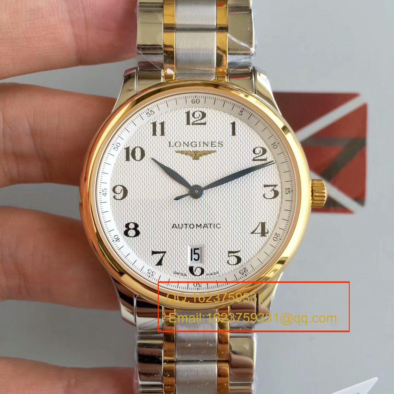 【KZ厂顶级复刻手表】浪琴名匠系列L2.628.5.78.7(钢带)、L2.628.6.78.3(皮带)间黄金单历腕表 / LBD096