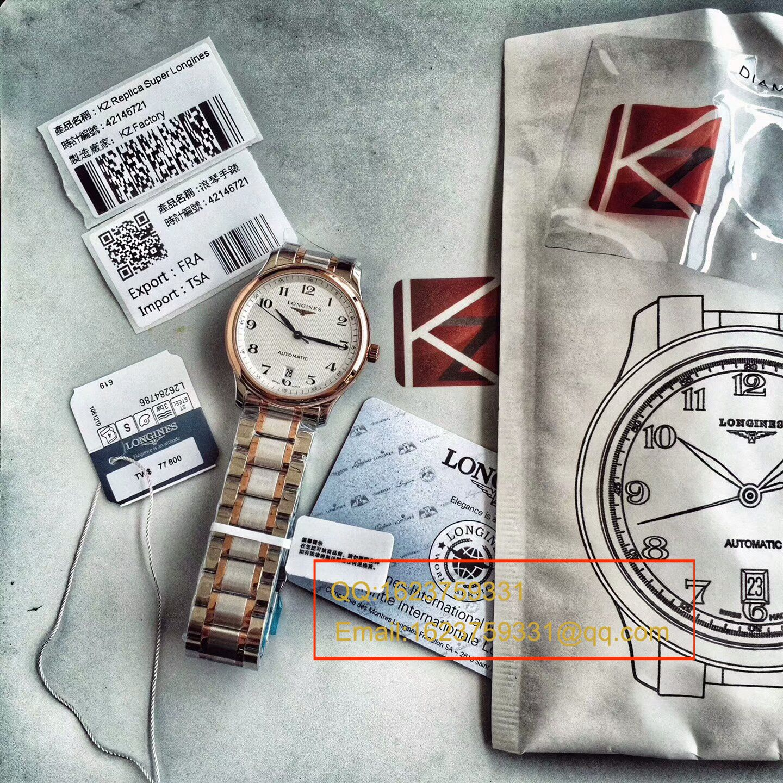 【KZ厂一比一顶级复刻手表】浪琴名匠系列L2.628.8.78.3间玫瑰金钢带版本腕表 / L097