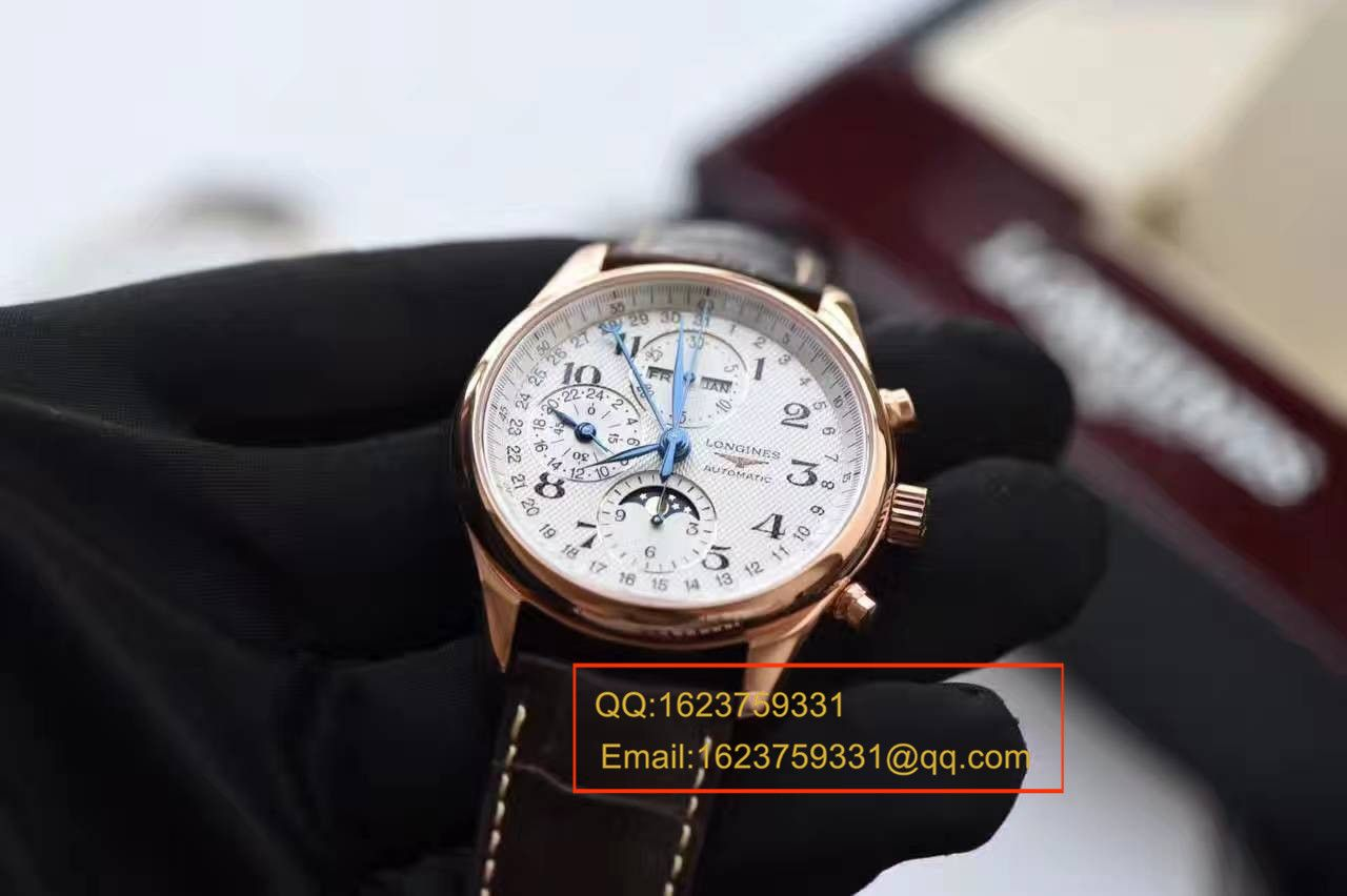 【视频评测YL一比一超A高仿手表】浪琴新款名匠系列 L2.773.4.78.6八针月相男表(自动锤L678.2刻字)