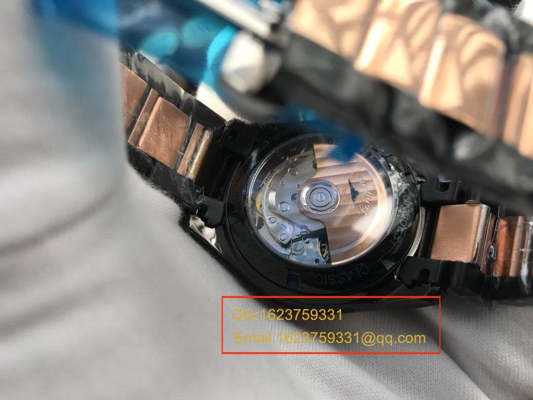 【视频评测YL厂一比一超A高仿手表】浪琴康铂旗舰版黑色间金版男表