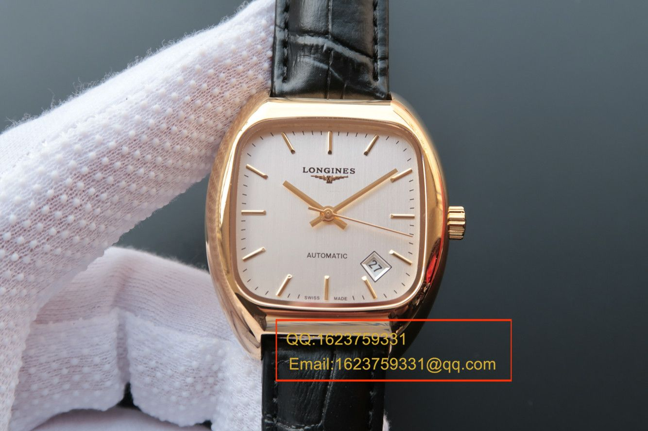 【MK厂复刻手表】浪琴HERITAGE1969复古传统系列L2.310.4.72.0金壳腕表 / L091