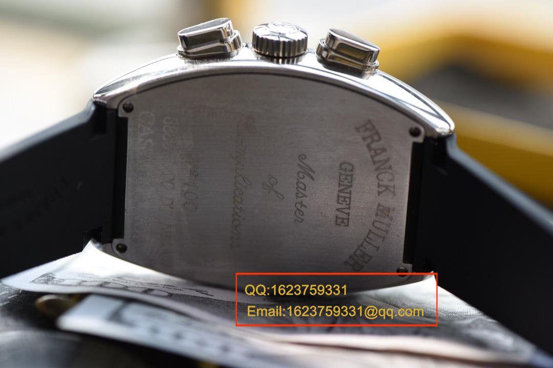【视频评测V6厂1:1超A精仿手表】法兰克.穆勒MEN'S COLLECTION系列8880 CC AT 白金表壳黑色时标腕表 / 法穆兰BEFL01