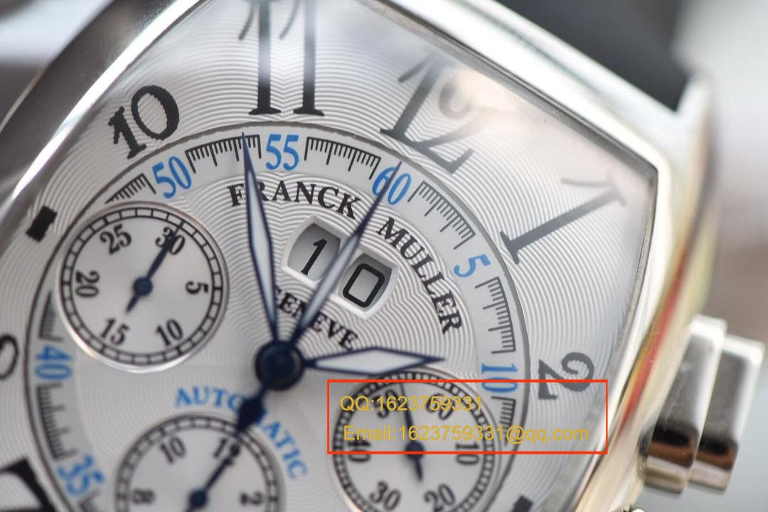 【视频评测V6厂1:1超A精仿手表】法兰克.穆勒MEN'S COLLECTION系列8880 CC AT 白金表壳黑色时标腕表