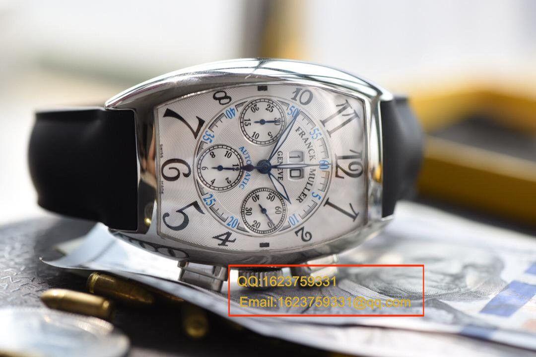 【视频评测V6厂复刻手表】法兰克.穆勒MEN'S COLLECTION系列8880 CC AT 白金表壳黑色时标腕表 / 法穆兰BEFL01
