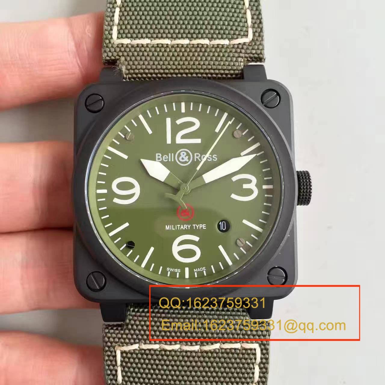【BR厂顶级复刻高仿手表】柏莱士AVIATION系列BR 03-92 Military Carbon腕表