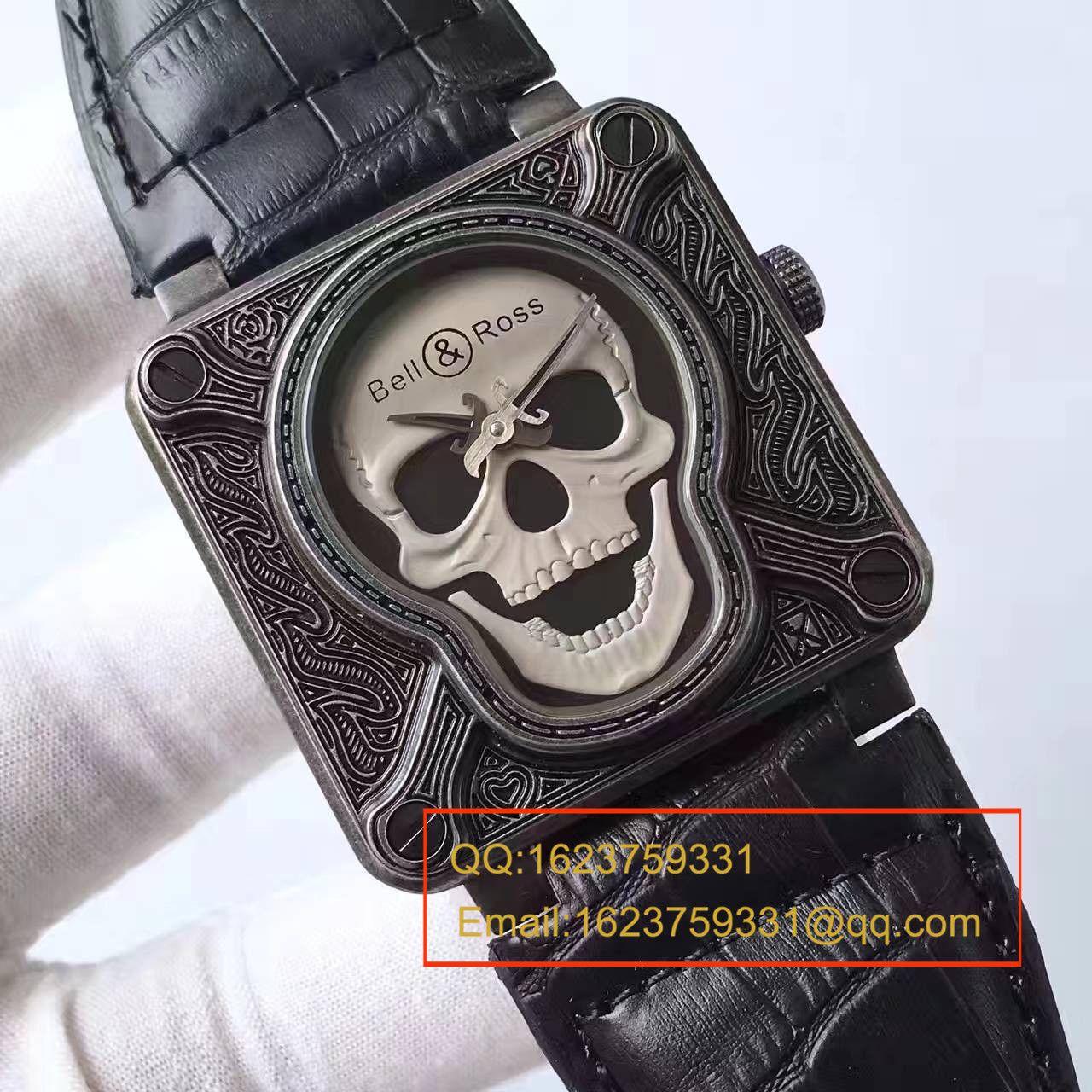【UK厂一比一超A高仿手表】柏莱士AVIATION系列BR 01 BURNING SKULL腕表 / BL014