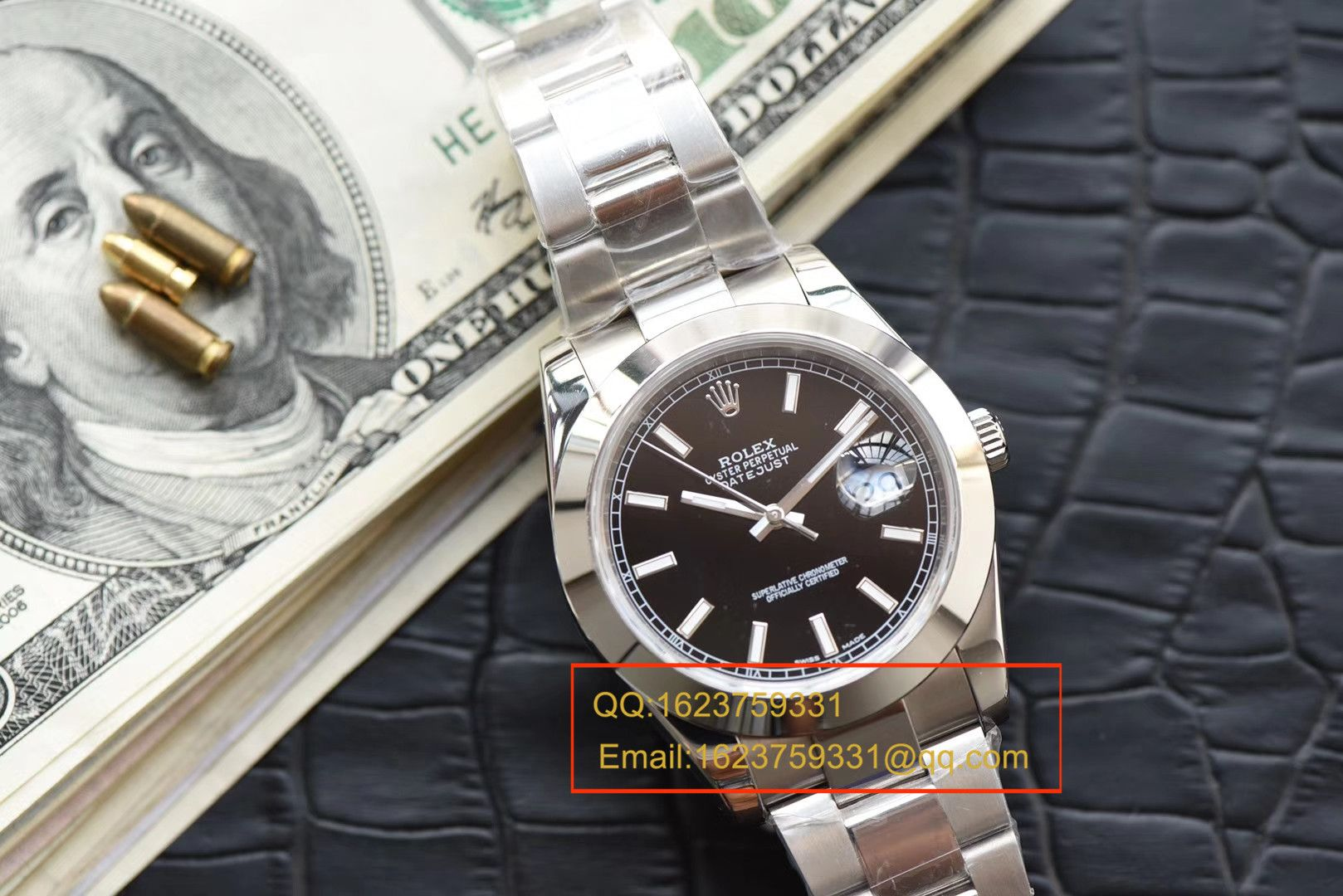 【N厂超A1:1精仿手表】劳力士日志型系列116334-黑盘腕表 / RBE093