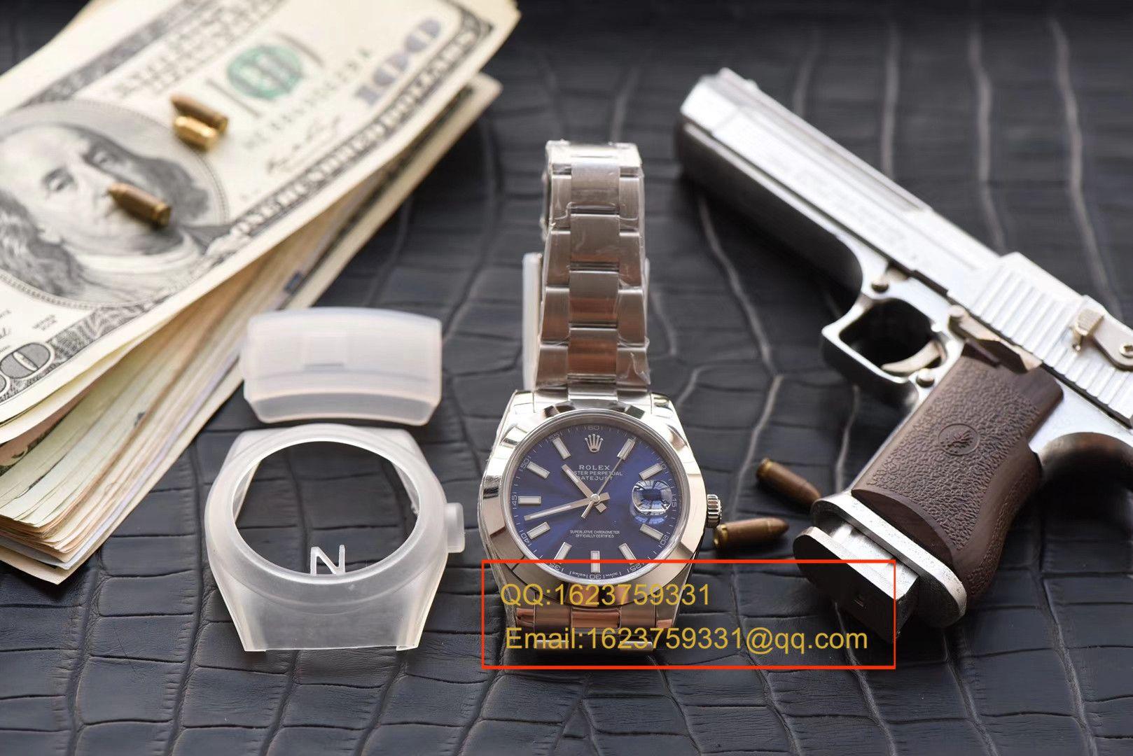 【视频评测N厂一比一超A高仿手表】劳力士日志型系列116300蓝盘腕表 / RBD187