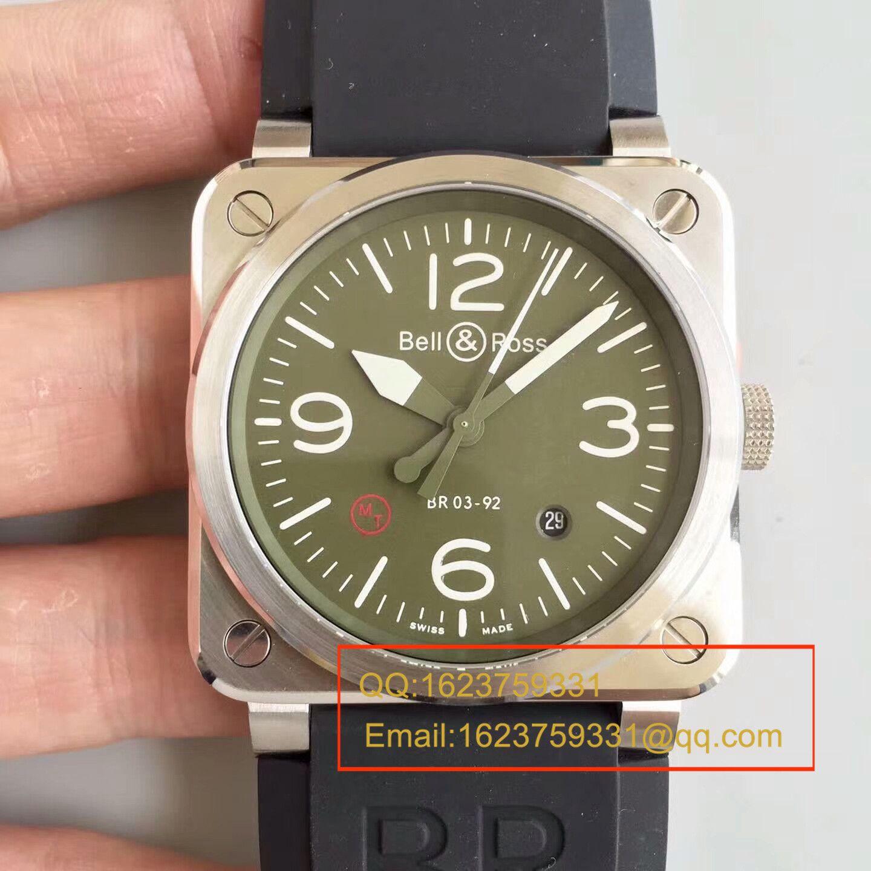 【BR1:1顶级精仿手表】柏莱士AVIATION系列 BR 03-92 BLACK CAMO腕表