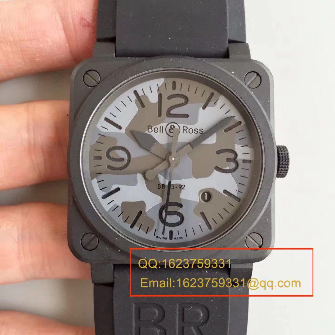 【BR1:1顶级精仿手表】柏莱士AVIATION系列 BR 03-92 BLACK CAMO腕表 / BLS011