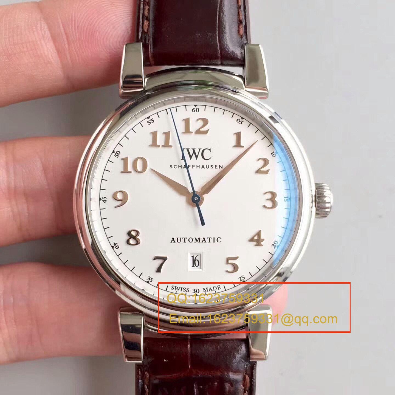 【MK一比一超A高仿手表】万国达文西系列IW356601 《白面》IW356602《灰面》腕表 / WGB0126
