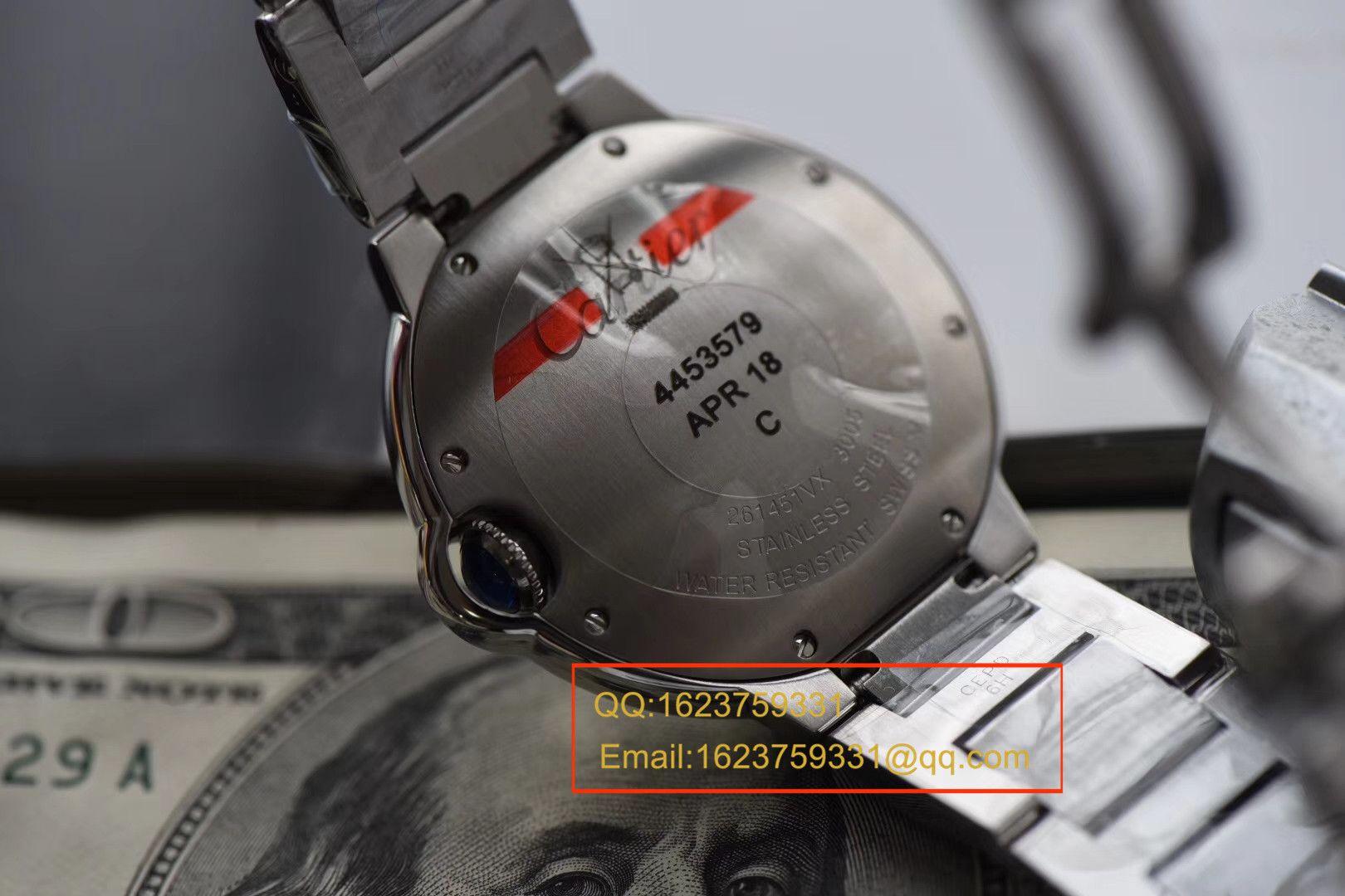 【视频评测HBBV6厂一比一超A高仿手表】卡地亚蓝气球系列W69011Z4女士36毫米石英腕表