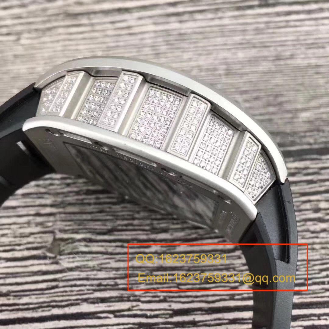 【KV一比一超A高仿手表】理查德.米勒RICHARD MILLE男士系列RM 052银色骷髅头满钻腕表 / RM052C