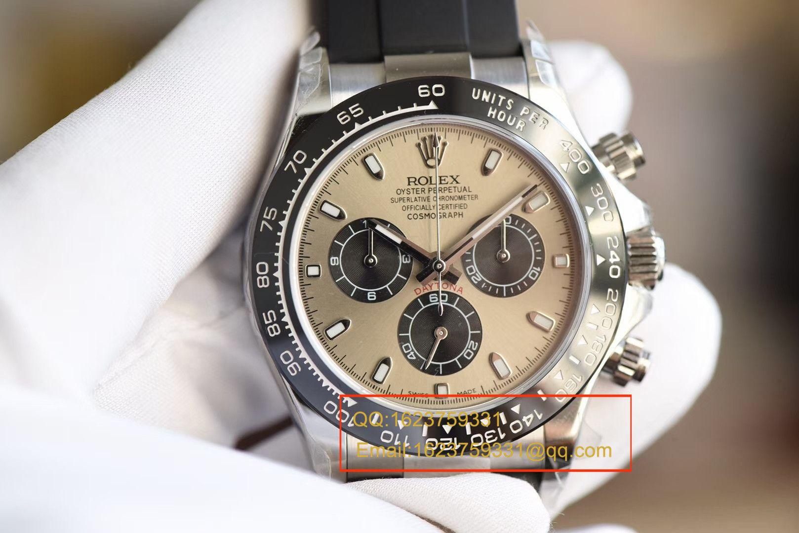 【独家视频评测台湾一比一超A高仿手表】劳力士宇宙计型迪通拿系列M116519ln-0024腕表 / RBB191