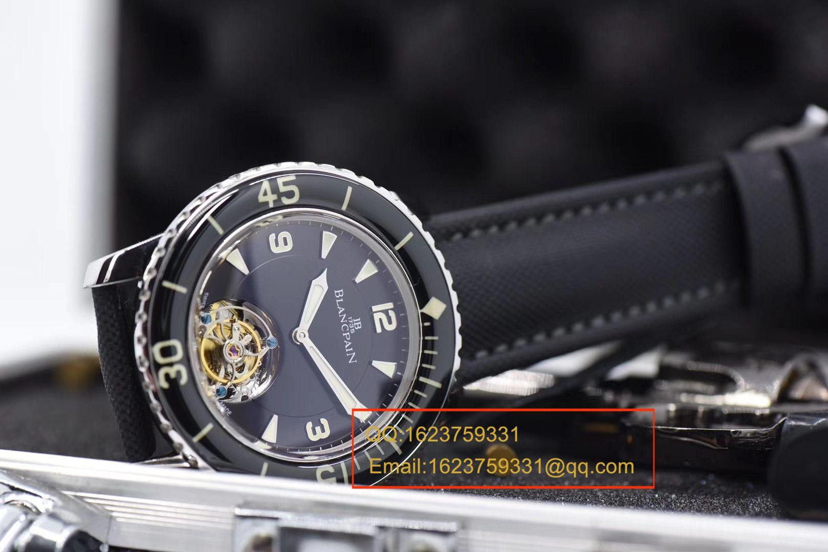 【视频评测ZF一比一超A高仿手表】宝珀五十噚系列陀飞轮腕表 / BPDH036