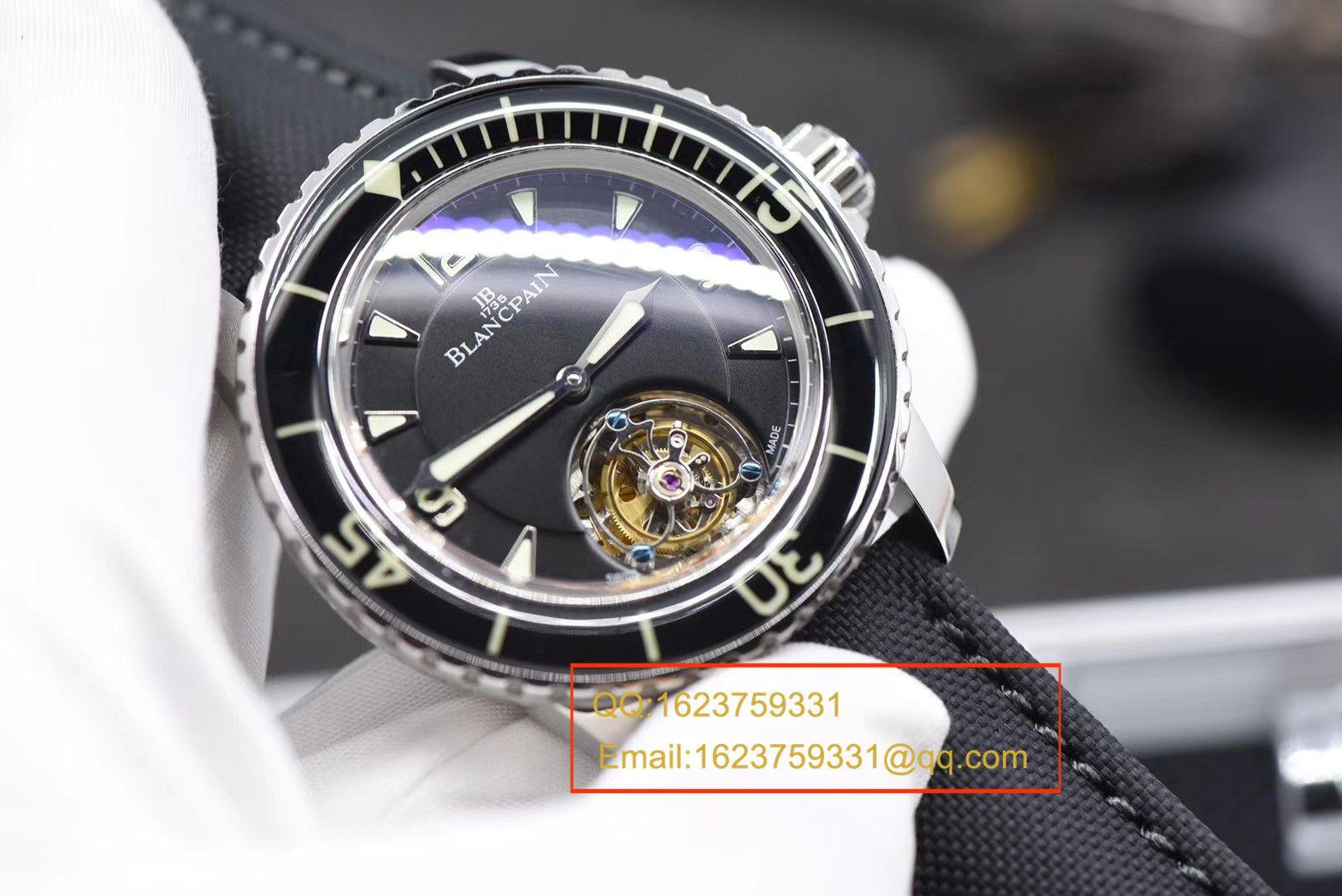 【视频评测ZF厂顶级复刻手表】宝珀五十噚系列陀飞轮腕表 / BPDH036