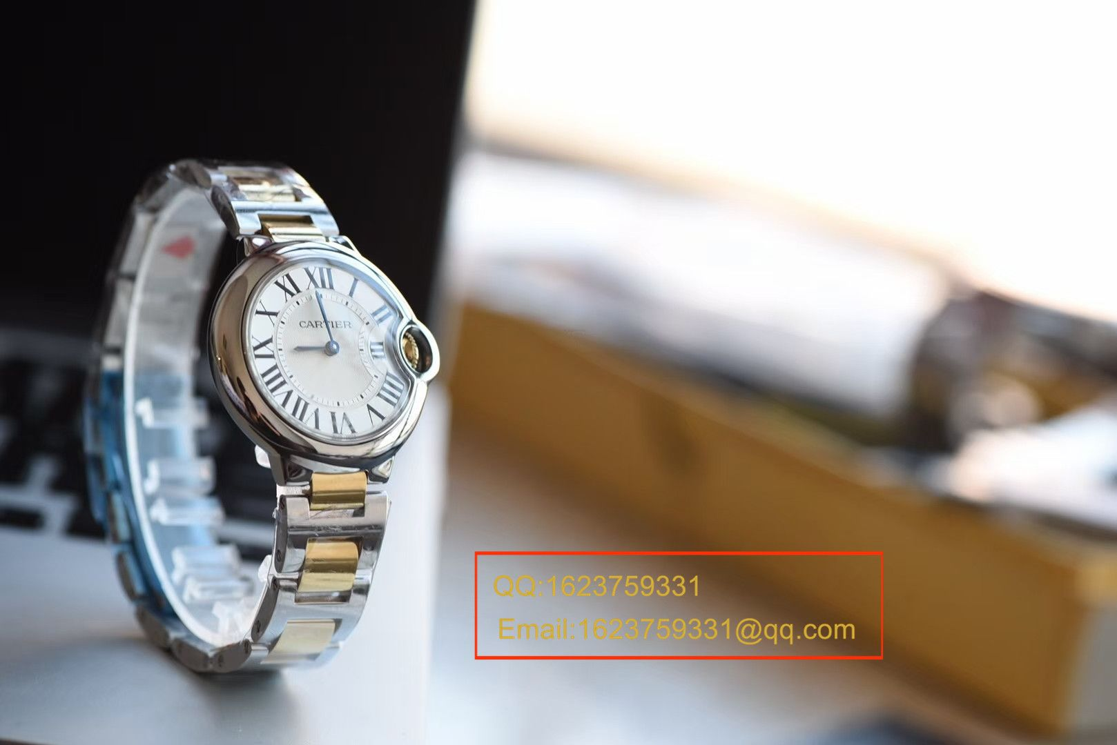 【HBBV6一比一超A高仿手表】卡地亚蓝气球系列W69008Z3女士33/36毫米间金石英腕表