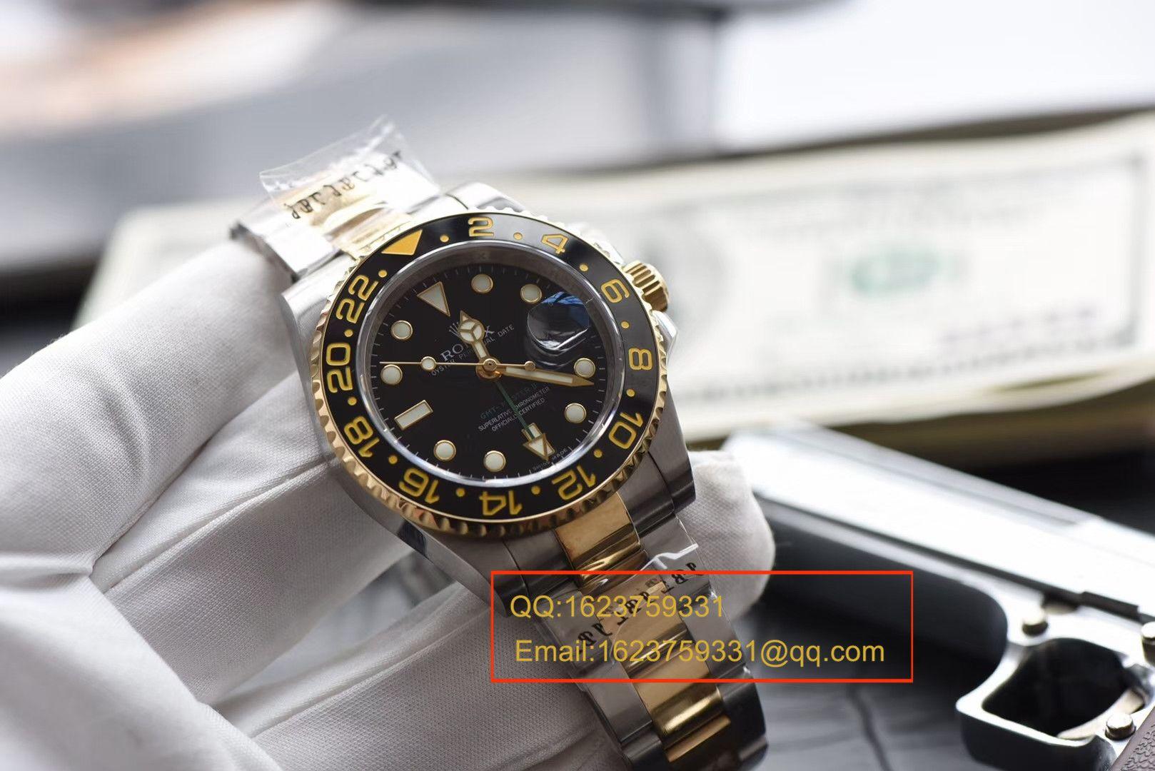 【N厂V7版本一比一精仿手表】劳力士格林尼治型II系列116713-LN-78203腕表【可选择包金款】