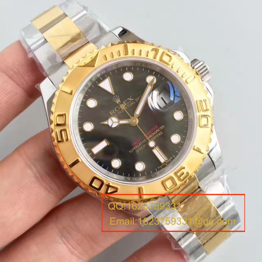【JF厂一比一复刻手表】劳力士游艇名仕型系列16623黑贝母盘腕表 / RBC138