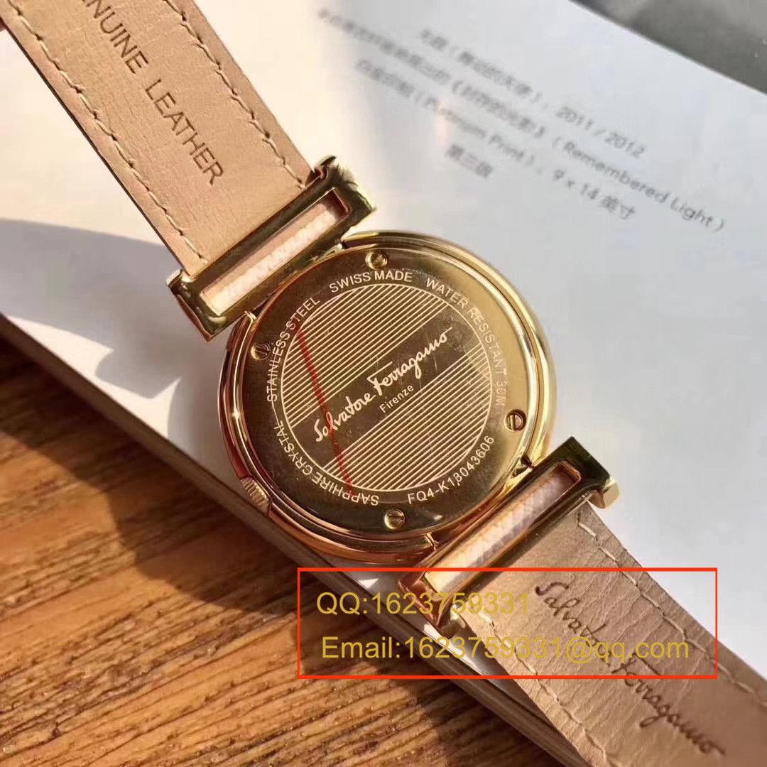 【原单正品】菲拉格慕FQ4石英女表,保真!表径37mm