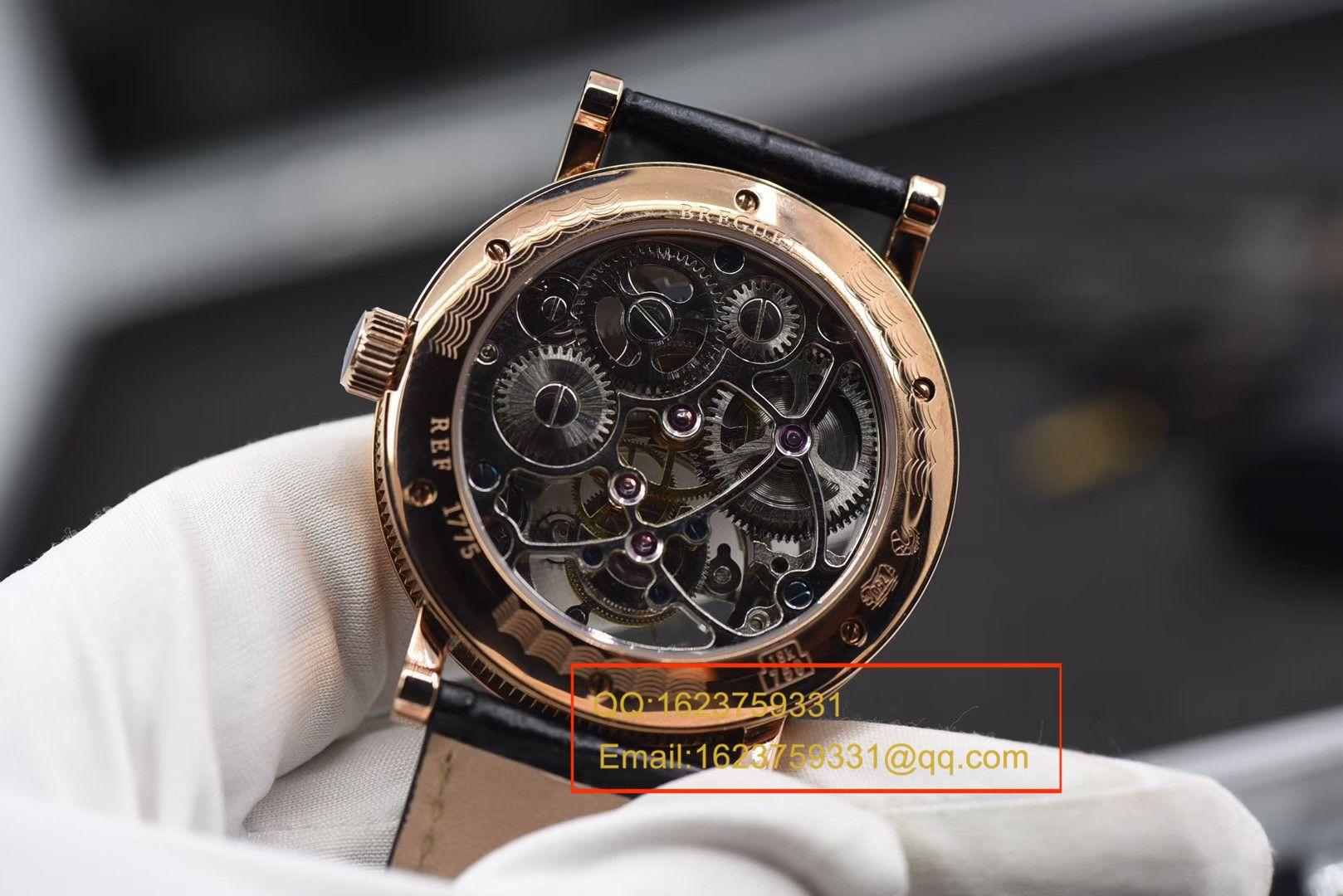 【BM一比一超A高仿手表】宝玑经典复杂系列3355PT/00/986缕空雕花顶级手动真陀飞轮腕表