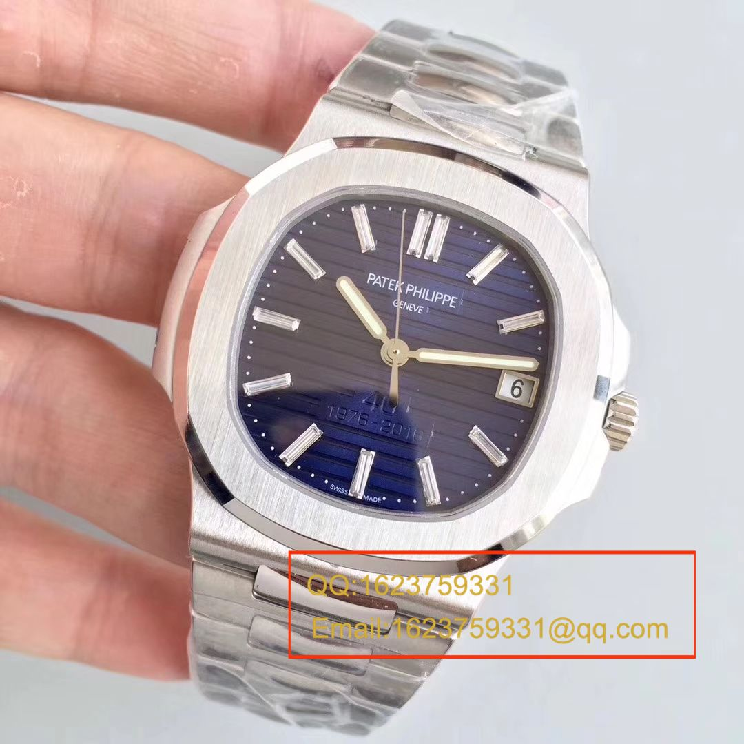 【PF厂顶级复刻手表】百达翡丽Nautilus系列 四十周年纪念腕表5711/1P-001 / BD215