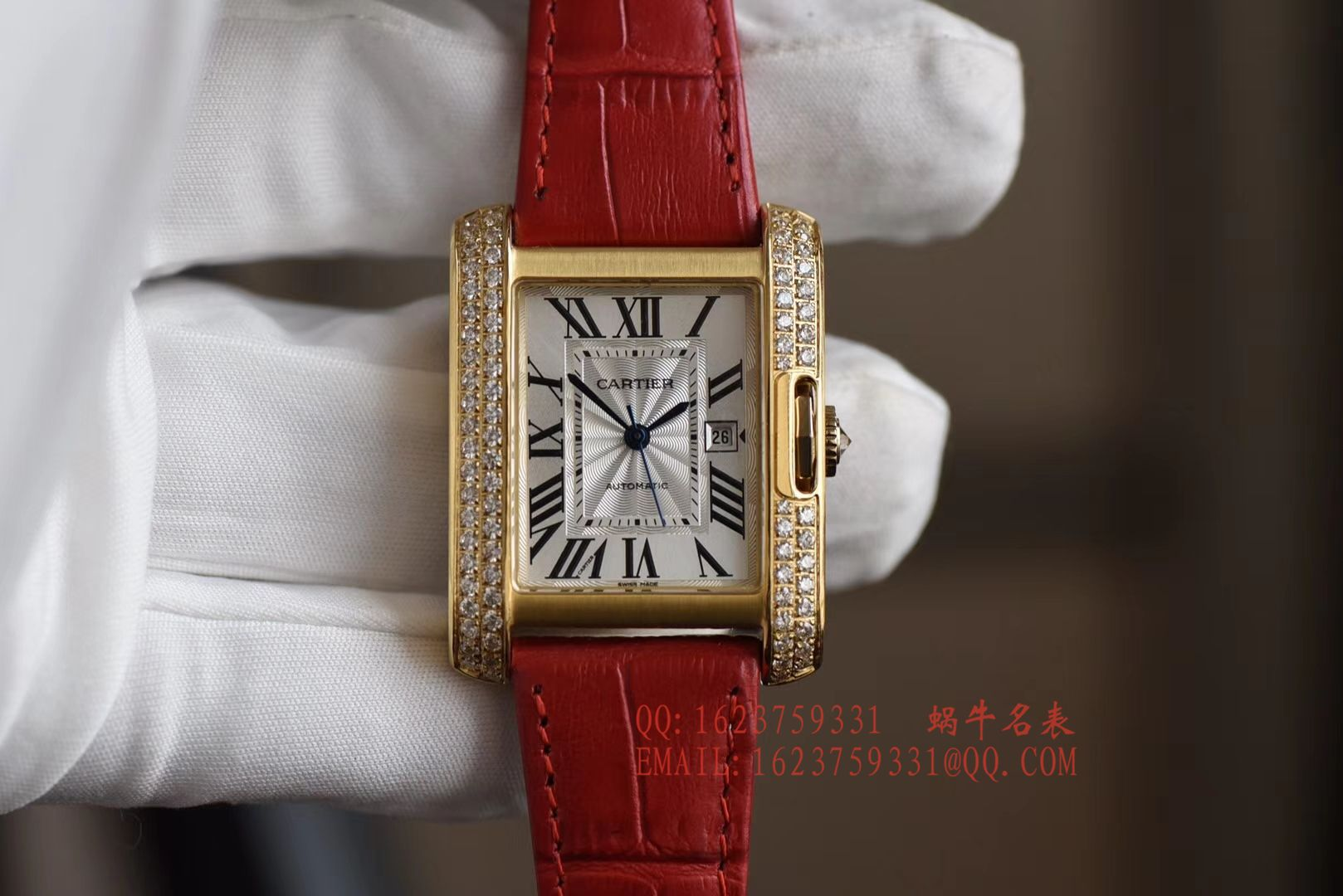 【K11厂顶级复刻手表】卡地亚坦克 TANK ANGLAISE系列WT100017女士腕表 / KAH141
