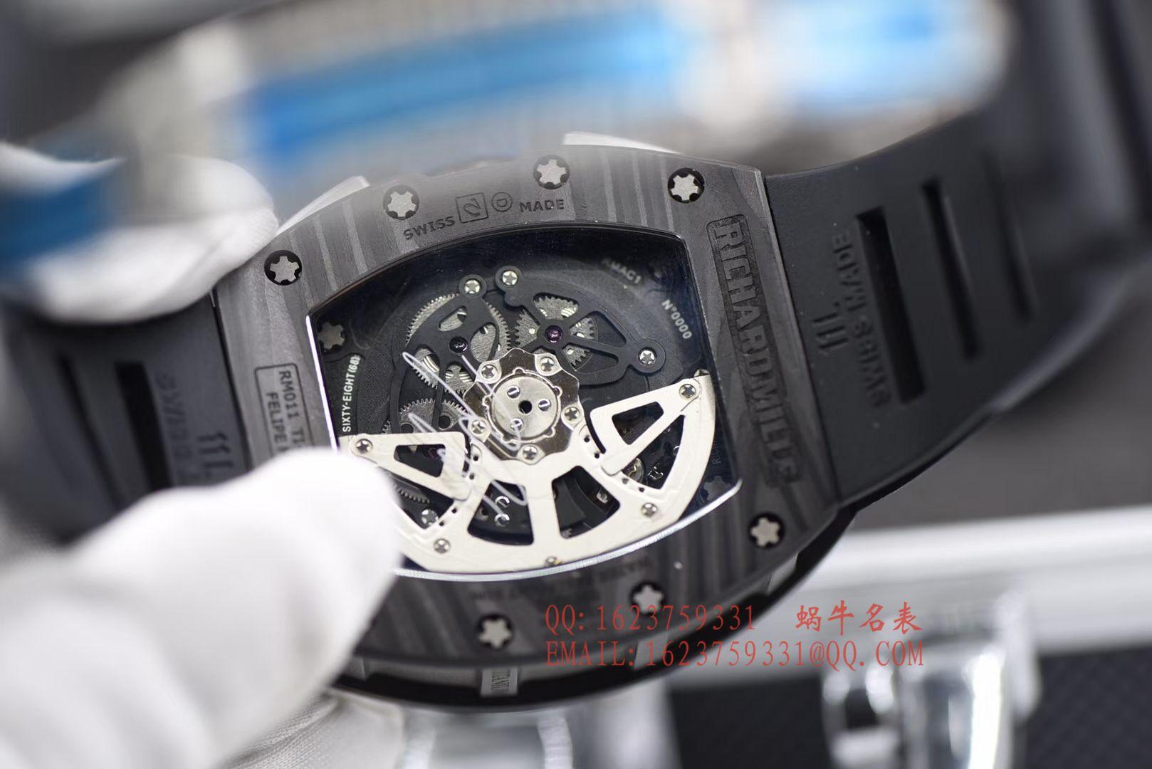 【独家视频评测KV最强版本顶级复刻手表】理查德米勒RICHARD MILLE男士系列RM 011腕表 / RMCI 011DD